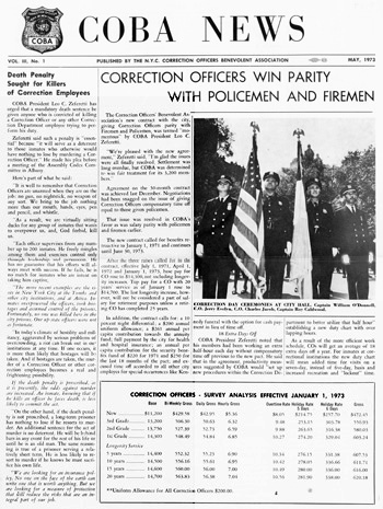 Image Of Front Page The May 1973 Issue Tabloid Size Newsletter Coba News