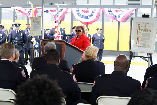 Benjamin Ward Rikers Visit Center Dedication